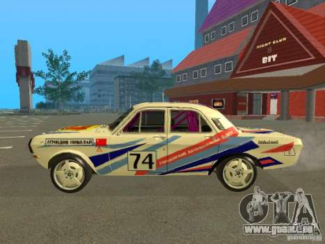 Volga GAZ 24-10 Rallye pour GTA San Andreas laissé vue