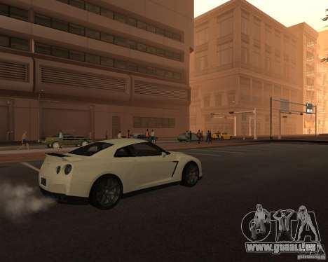 Nissan GT-R Pronto pour GTA San Andreas sur la vue arrière gauche