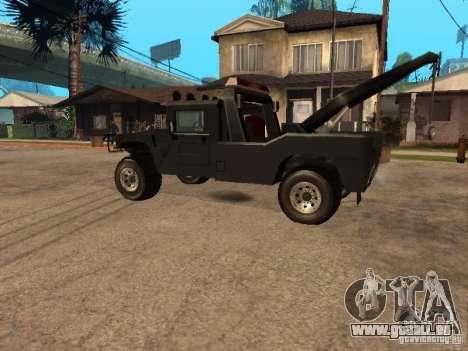 H1 HUMMER-LKW für GTA San Andreas linke Ansicht