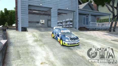 Subaru Impreza WRX STI Rallycross SHOEL Vinyl für GTA 4 rechte Ansicht