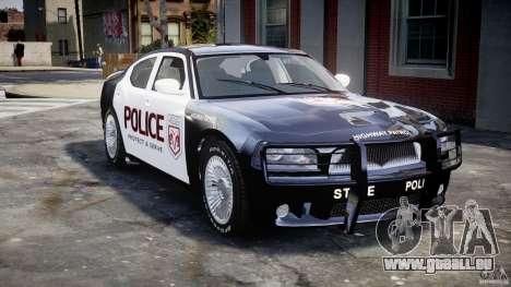 Dodge Charger SRT8 Police Cruiser pour GTA 4 vue de dessus