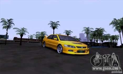 Mitsubishi Lancer Evolution IX 2006 pour GTA San Andreas vue arrière