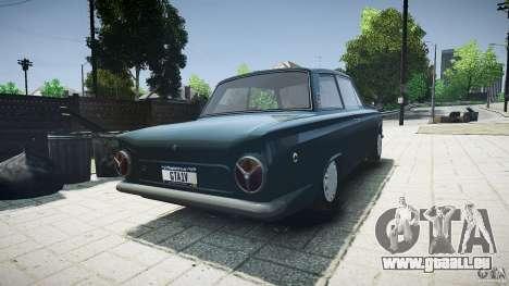Lotus Cortina S 1963 pour GTA 4 Vue arrière de la gauche