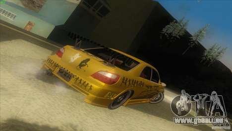 Subaru Impreza WRX No Fear pour GTA San Andreas laissé vue