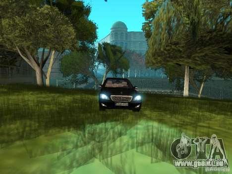 Mercedes Benz S600 pour GTA San Andreas vue arrière