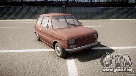 Fiat 126 pour GTA 4 Vue arrière