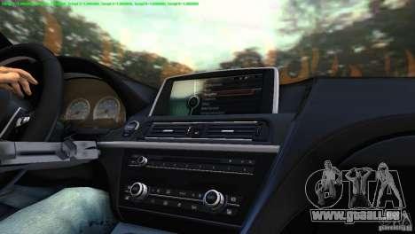 BMW M6 2013 pour une vue GTA Vice City de la droite