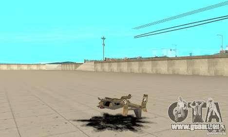 Hawk für GTA San Andreas zurück linke Ansicht