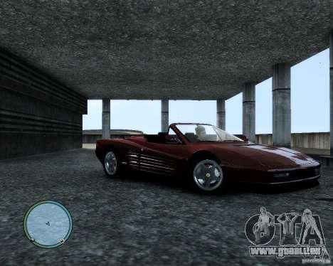 Ferrari Testarossa pour GTA 4 est une gauche
