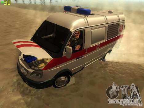 Gazelle 32214 Krankenwagen für GTA San Andreas Rückansicht