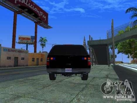 Chevrolet Suburban Los Angeles Police pour GTA San Andreas sur la vue arrière gauche