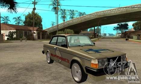Volvo 240 Turbo pour GTA San Andreas vue arrière