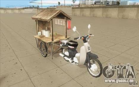 Honda Super Cub avec un chariot pour GTA San Andreas vue intérieure