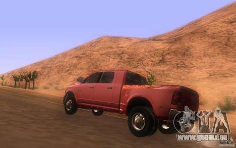 Dodge Ram 3500 Laramie 2010 pour GTA San Andreas sur la vue arrière gauche
