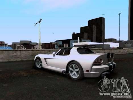 Dodge Viper SRT-10 Custom für GTA San Andreas zurück linke Ansicht