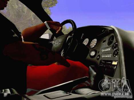 Toyota Supra Drift Edition pour GTA San Andreas vue de dessus
