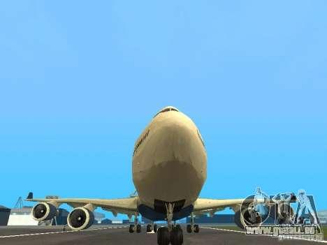 Boeing 747-400 Delta Airlines für GTA San Andreas Seitenansicht
