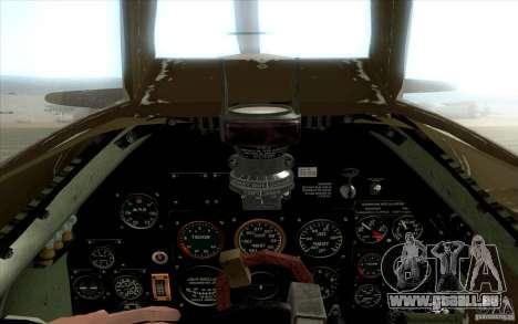Spitfire pour GTA San Andreas vue de droite
