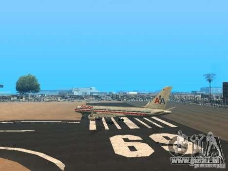 Boeing 757-200 American Airlines für GTA San Andreas zurück linke Ansicht
