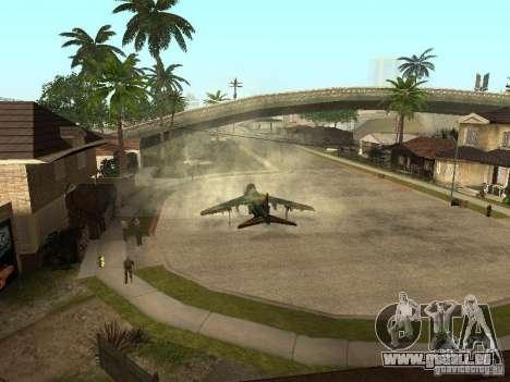 Camouflage pour Hydra pour GTA San Andreas sur la vue arrière gauche