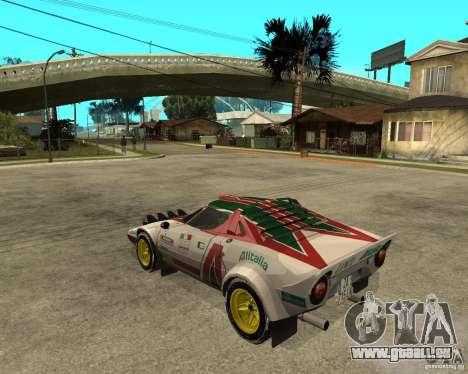Lancia Stratos pour GTA San Andreas laissé vue