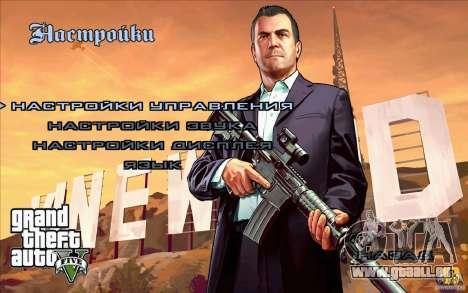 Écrans de démarrage dans le style de GTA 5 pour GTA San Andreas cinquième écran
