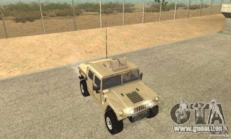 Hummer H1 pour GTA San Andreas vue intérieure
