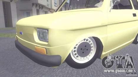 Fiat 126 pour GTA San Andreas sur la vue arrière gauche