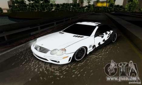 Mercedes Benz SL 65 AMG pour GTA San Andreas vue intérieure