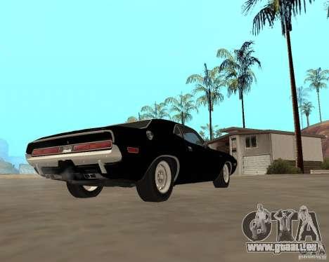 1970 Dodge Challenger R/T für GTA San Andreas rechten Ansicht