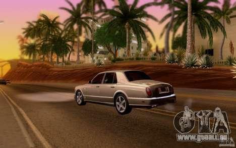 Bentley Arnage pour GTA San Andreas vue de droite