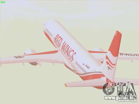 Tupolev Tu-204 Red Wings Airlines für GTA San Andreas Seitenansicht