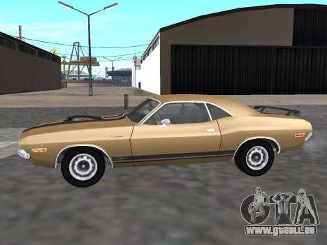 Dodge Challenger 440 Six Pack 1970 pour GTA San Andreas laissé vue