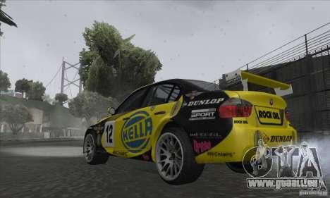 BMW 320i GRID pour GTA San Andreas laissé vue