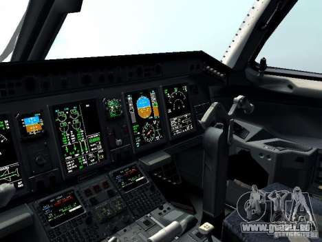 Embraer E-190 pour GTA San Andreas vue de dessus