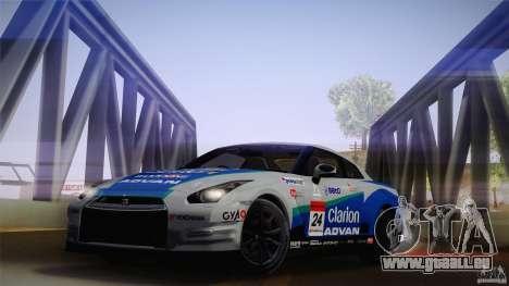 Nissan GTR R35 Tunable v2 pour GTA San Andreas sur la vue arrière gauche