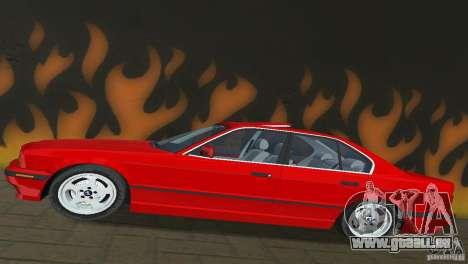BMW 540i e34 1992 für GTA Vice City Rückansicht