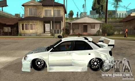 Subaru Impreza Tunned pour GTA San Andreas laissé vue