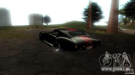 Shelby Cobra Dezent Tuning für GTA San Andreas zurück linke Ansicht