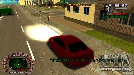 Toyota Avensis pour GTA San Andreas vue de droite