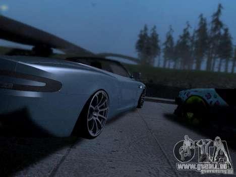 Aston Martin DB9 Volante 2006 pour GTA San Andreas sur la vue arrière gauche