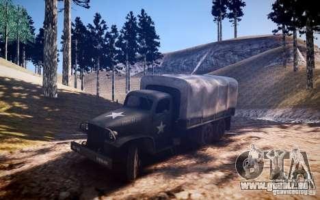 Camion militaire de Mafia II pour GTA 4 Vue arrière de la gauche