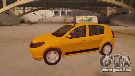 Renault Sandero Taxi für GTA San Andreas obere Ansicht