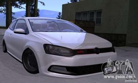 Volkswagen Polo GTI Stanced pour GTA San Andreas vue arrière