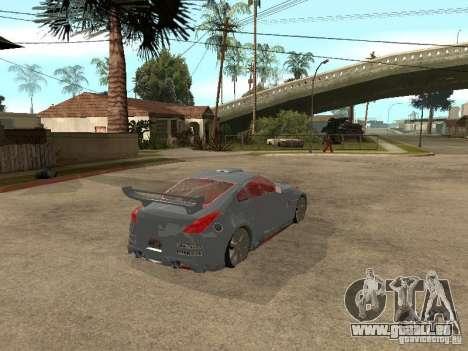 Nissan 350Z Virgo pour GTA San Andreas sur la vue arrière gauche