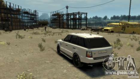 Land Rover Range Rover Sport pour GTA 4 est une gauche