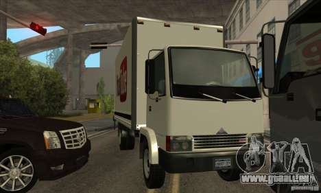 Camion avec logo YouTube pour GTA San Andreas vue de droite
