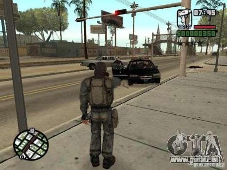 Mercenaire de STALKER en masque pour GTA San Andreas cinquième écran
