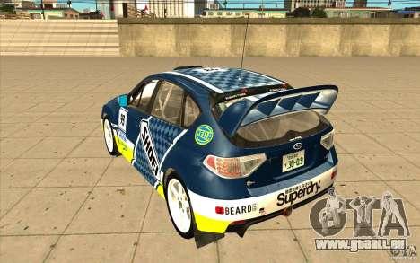 Neue Schallplatten bis Subaru Impreza WRX STi für GTA San Andreas Innen