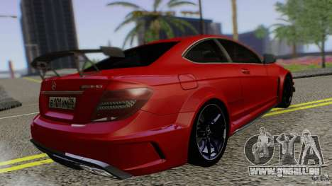 Mercedes Benz C63 AMG Black Series 2012 für GTA San Andreas linke Ansicht